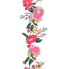 Floral seamless garland