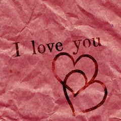 """Ich liebe Dich als englische Botschaft """"I Love You"""""""