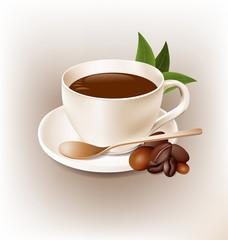 Coffe cup retro style vector design