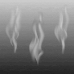 Delicate white cigarette smoke waves on background vector illust