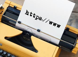 URL auf Schreibmaschine