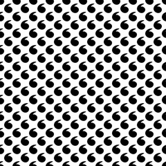 Seamless black and white decorative vector background with drops