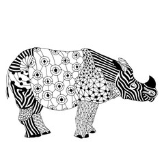 Rhino - Stylized fantasy patterned Rhinoceros.