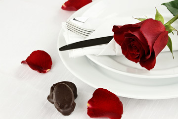 Rose and Chocolate Candy