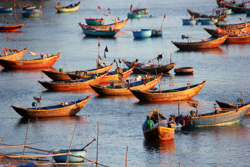 Fishing boats in Mui ne. Vietnam