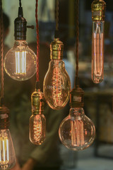 Light bulbs decoration (Front focus)
