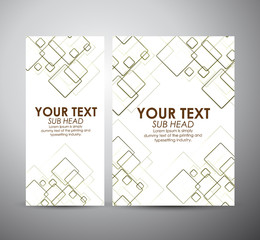 Abstract squares pattern. Brochure business design template or roll up. Vector illustration