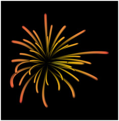 Fireworks vector symbol, icon, design. Illustration isolated on white background.