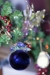 Christmas ball blue