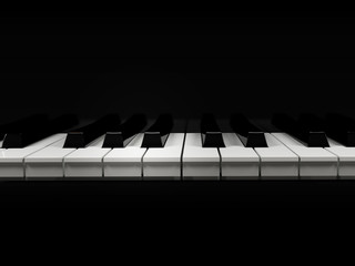 piano keyboard on a black background