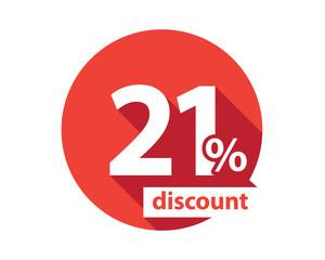 21 percent discount  red circle