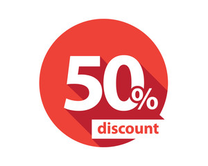 50 percent discount  red circle