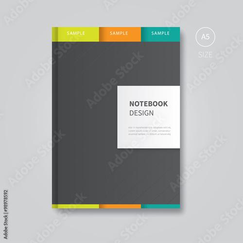 brochure notebook design template\