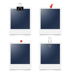 Set of photo frames on white background. Vector illustration. High detail vector ready for use in your design