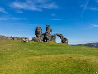 Castell Dinas Bran above Llangollen Wales