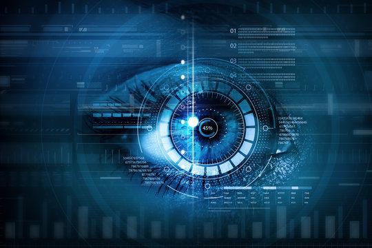 Female digital eye