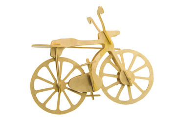 Bike models made of wood