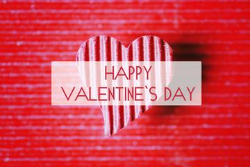 happy valentine paper heart shape