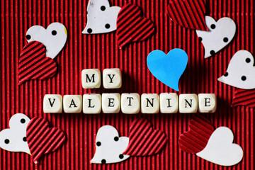 valentine day paper heart shape