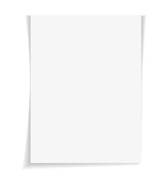 Empty paper sheet. Vector