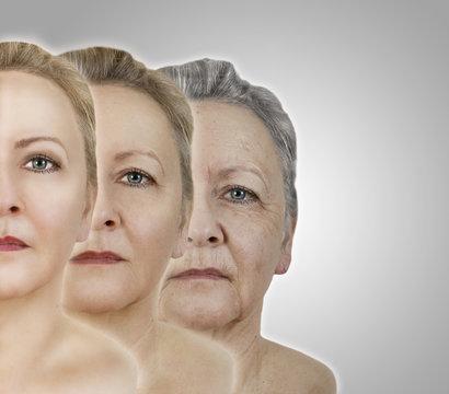 Gesicht älter werden