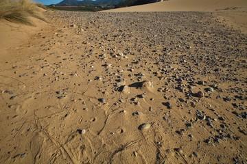 wind creates interesting drawings in the sand, Sardinia