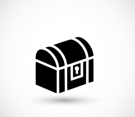Treasure chest icon vector