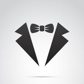Waiter suit icon. Vector art.