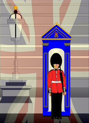 Soldier On Royal Guard Duty