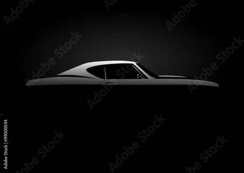 Vehicle Design Concept With Classic American Style Muscle Car