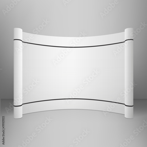 Trade Exhibition Stand Vector : Vector exhibition stand with cover abstract geometric background