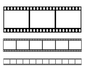 Filmstrip set illustration vector