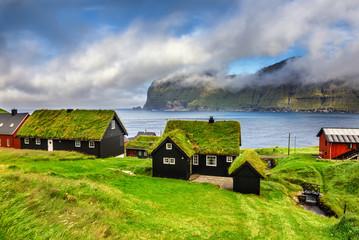 Wall Mural - Village of Mikladalur, Faroe Islands, Denmark