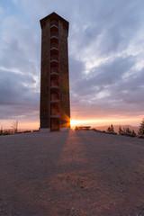 Wall Mural - Sonnenuntergang am Buchkopfturm