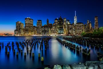 Fond de hotte en verre imprimé Bestsellers Manhattan skyline