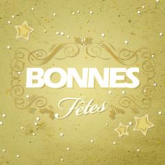 Carte bonne fêtes or et blanc