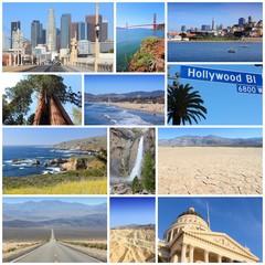 California travel collage