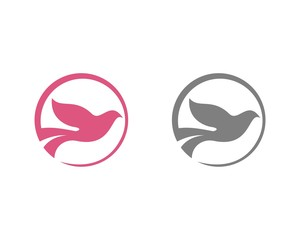Circle Flying Dove Logo