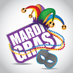 Mardi Gras icon design element. EPS 10 vector.