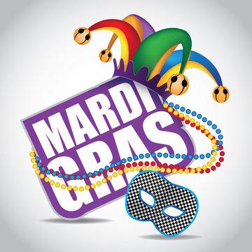 Mardi Gras icon design element. EPS 10 vector.