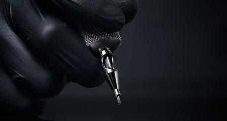 Tattoo machine closeup concept