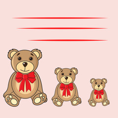 cards with bears in the vector