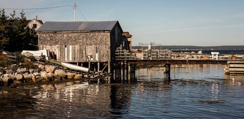 fishing shack and wharf