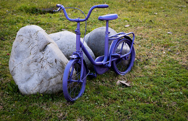 Little blue bicycle