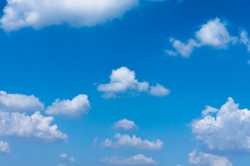 Beautiful clound in blue sky for blackground