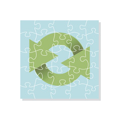 recycling logo puzzle