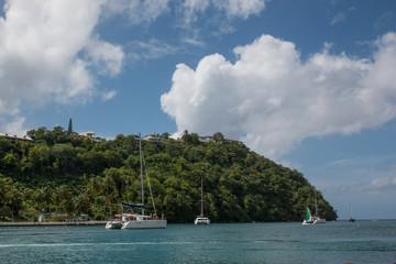 Plage à Sainte-Lucie, Caraïbes