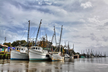 Shrimp boats in Georgia.