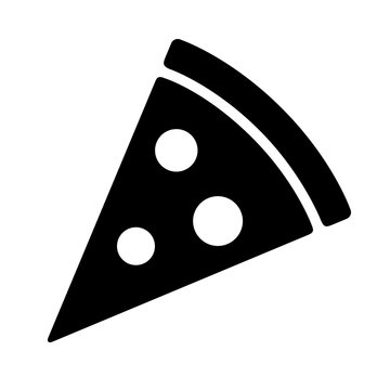 Pizza slice with pepperoni flat icon for apps and websites