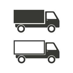 Truck - vector icon.